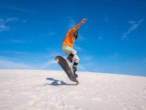 Sandboarding the Biggest Dunes